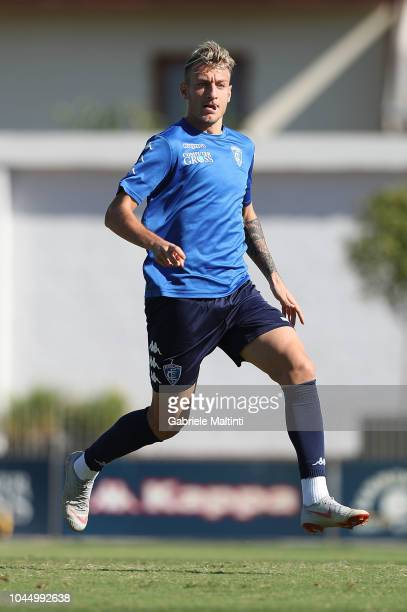 Antonino La Gumina of Empoli FC during a training session on October 3 2018 in Empoli Italy
