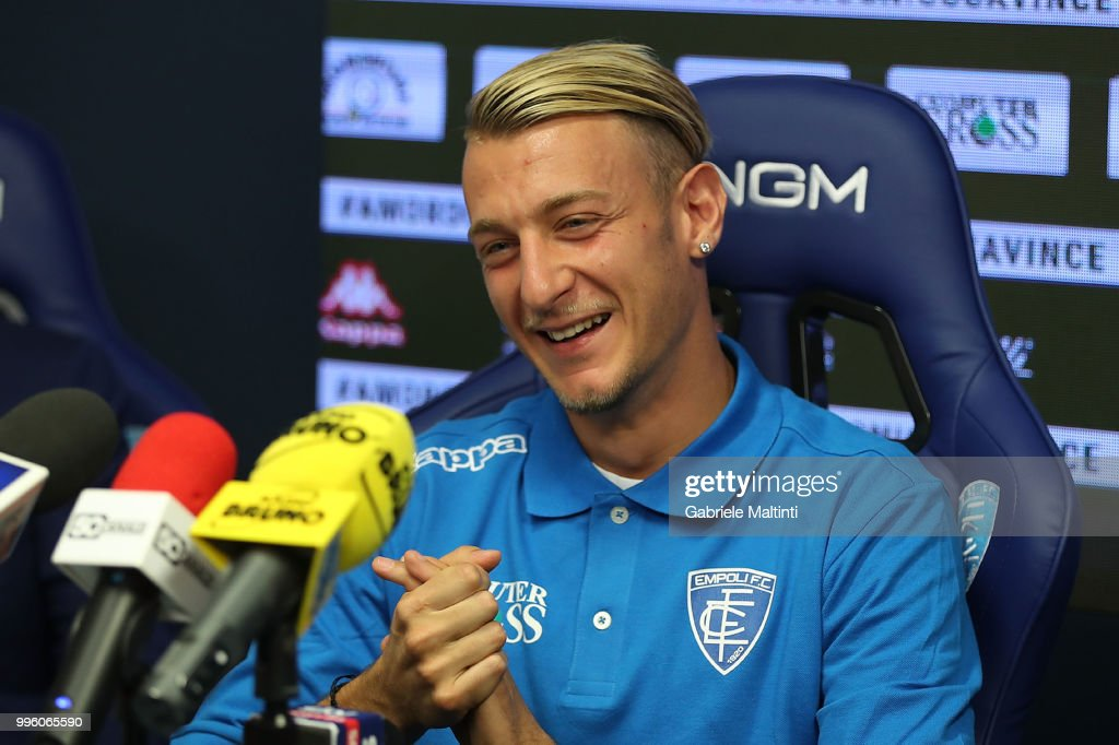 Antonino La Gumina of Empoli Fc during the press conference on July 11, 2018 in Empoli, Italy.