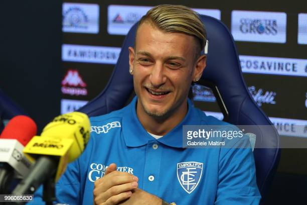 Antonino La Gumina of Empoli Fc during the press conference on July 11 2018 in Empoli Italy