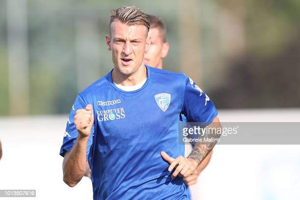 Antonino La Gumina of Empoli FC during the training session on August 8 2018 in Empoli Italy