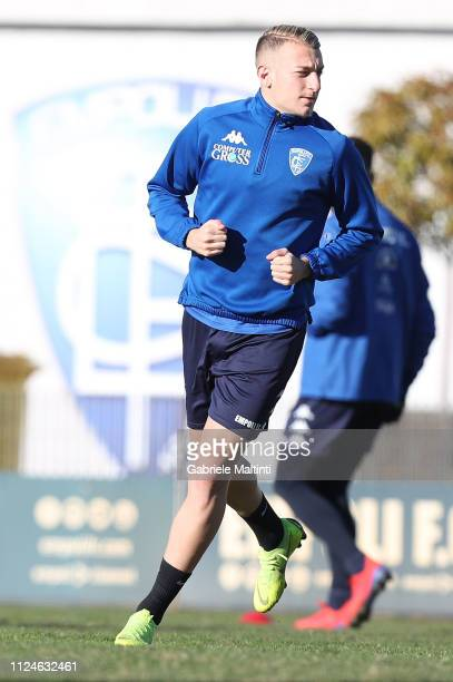 Antonino La Gumina of Empoli FC during training session on February 13 2019 in Empoli Italy
