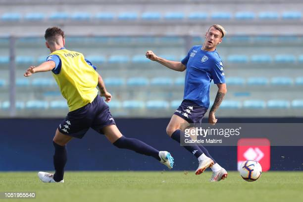 Antonino La Gumina of Empoli FC during training session on October 12 2018 in Empoli Italy