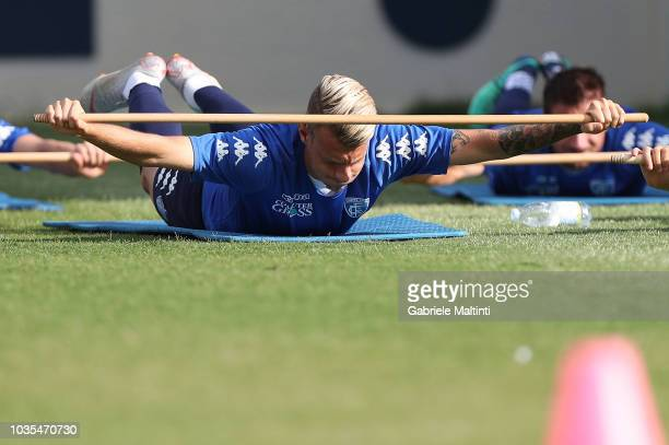 Antonino La Gumina of Empoli FC during training session on September 18 2018 in Empoli Italy