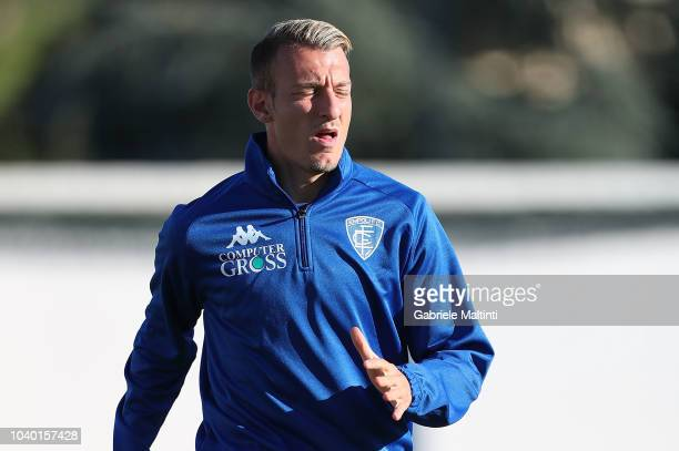 Antonino La Gumina of Empoli FC during training session on September 25 2018 in Empoli Italy