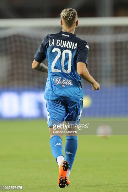 Antonino La Gumina of Empoli FC in action during the Coppa Italia match between Empoli FC and Cittadella at Stadio Carlo Castellani on August 12 2018...