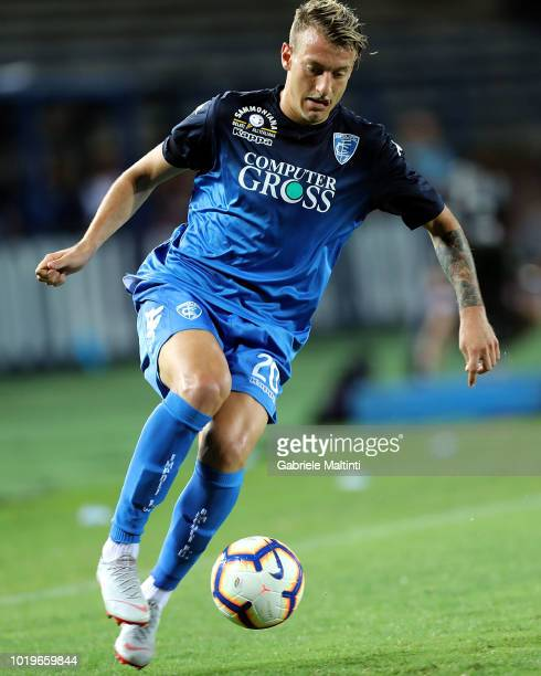 Antonino La Gumina of Empoli FC in action during the serie A match between Empoli and Cagliari at Stadio Carlo Castellani on August 19 2018 in Empoli...