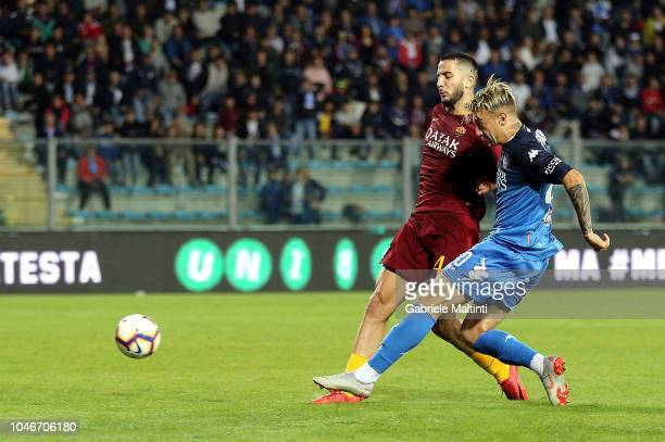 Antonino La Gumina of Empoli FC in action during the Serie A match between Empoli and AS Roma at Stadio Carlo Castellani on October 6 2018 in Empoli...