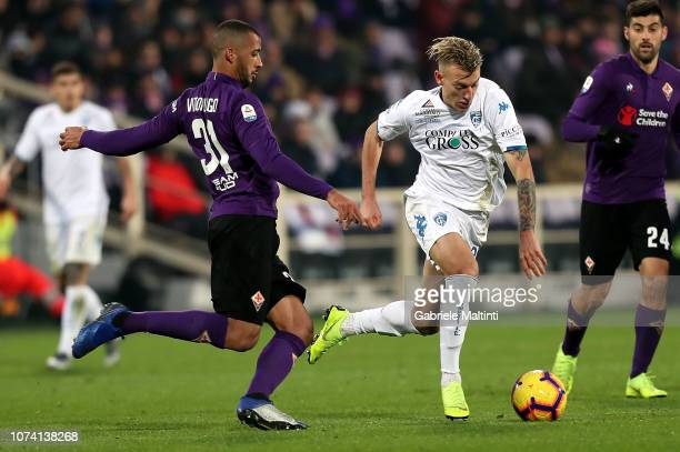 Antonino La Gumina of Empoli FC in action during the Serie A match between ACF Fiorentina and Empoli at Stadio Artemio Franchi on December 16 2018 in...