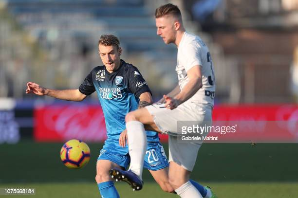 Antonino La Gumina of Empoli FC in action during the Serie A match between Empoli and FC Internazionale at Stadio Carlo Castellani on December 29...
