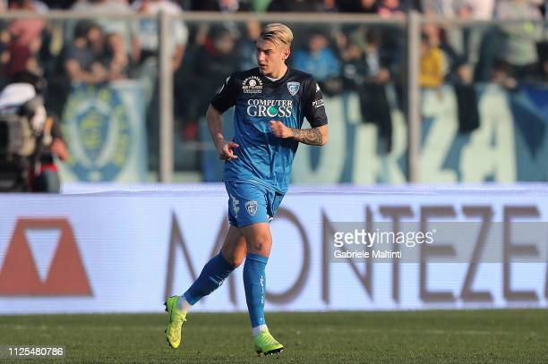Antonino La Gumina of Empoli FC in action during the Serie A match between Empoli and US Sassuolo at Stadio Carlo Castellani on February 17 2019 in...