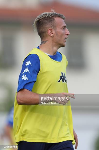 Antonino La Gumina of Empoli FC in action during training session on September 18 2018 in Empoli Italy