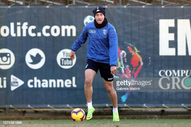 Antonino La Gumina of Empoli Fc in action during training session on December 18 2018 in Empoli Italy