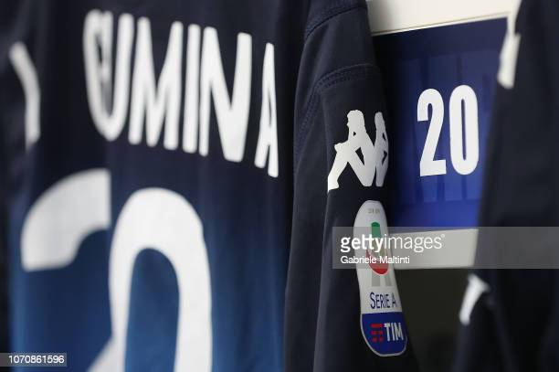 Antonino La Gumina of Empoli FC jersey details during the Serie A match between Empoli and Bologna FC at Stadio Carlo Castellani on December 9 2018...