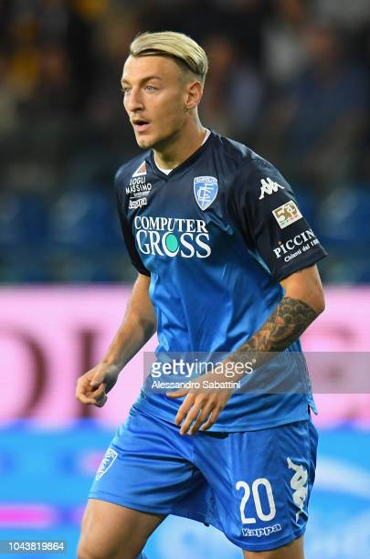Antonino La Gumina of Empoli Fc looks on during the Serie A match between Parma Calcio and Empoli at Stadio Ennio Tardini on September 30 2018 in...