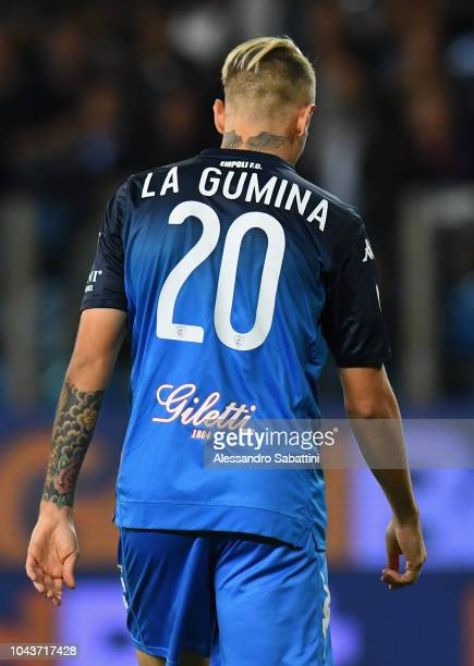 Antonino La Gumina of Empoli Fc reacts during the Serie A match between Parma Calcio and Empoli at Stadio Ennio Tardini on September 30 2018 in Parma...