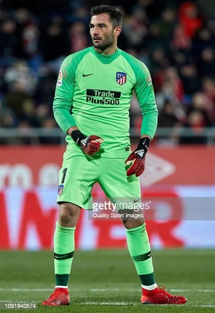 Antonio Adan of Atletico de Madrid during the Copa del Rey Round of 16 match between Girona FC and Atletico de Madrid at Montilivi Stadium on January...
