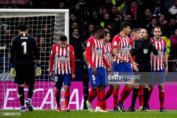 Antonio Adan of Atletico Madrid Angel Correa of Atletico Madrid Thomas of Atletico Madrid Koke of Atletico Madrid Rodri of Atletico Madrid Mateu...