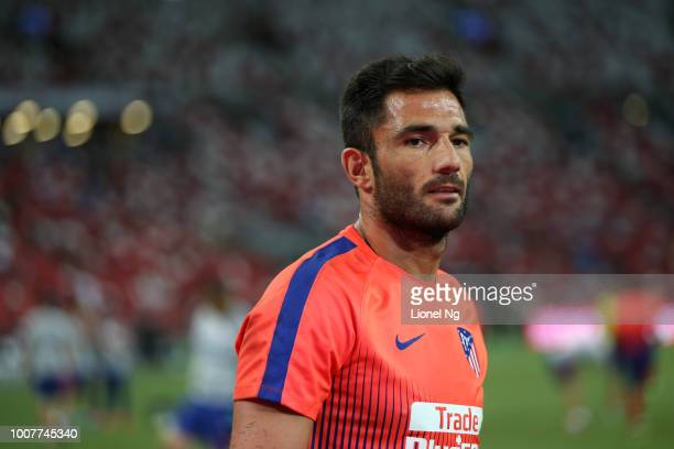 Antonio Adan of Atletico Madrid warms up before the International Champions Cup match between Paris Saint Germain and Club de Atletico Madrid at the...
