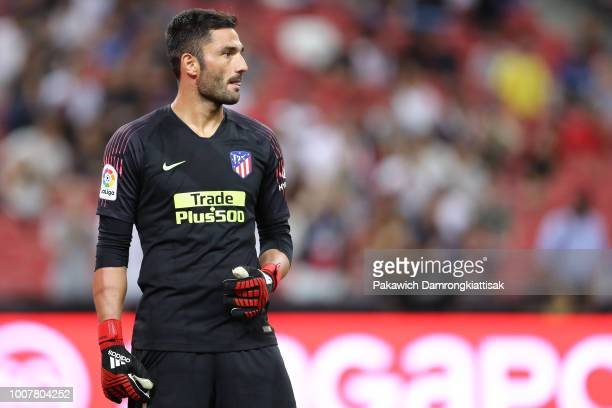 Antonio Adan of Club Atletico de Madrid in action during the International Champions Cup match between Paris Saint Germain and Club de Atletico...
