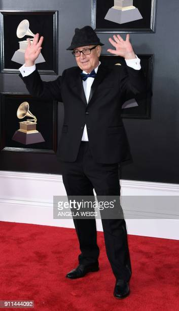 Antonio Adolfo arrives for the 60th Grammy Awards on January 28 in New York / AFP PHOTO / ANGELA WEISS