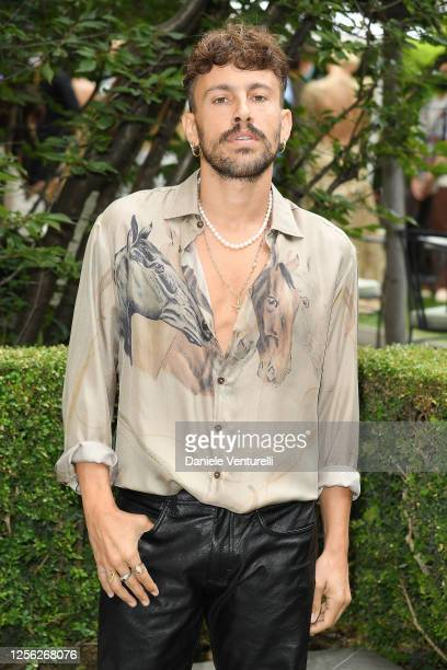 Antonio Aiello is seen on the front row at the Etro fashion show on July 15 2020 in Milan Italy