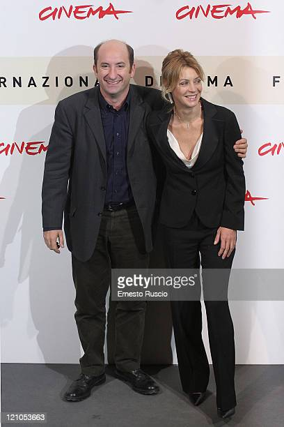 "Antonio Albanese and Margherita Buy during the photocall for ""Giorni E Nuvole"" at the Auditorium at the Rome Cinema Fest on October 22, 2007 in Rome,..."