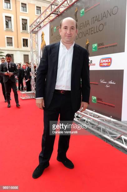 Antonio Albanese attends the 'David Di Donatello' movie awards at the Auditorium Conciliazione on May 7 2010 in Rome Italy