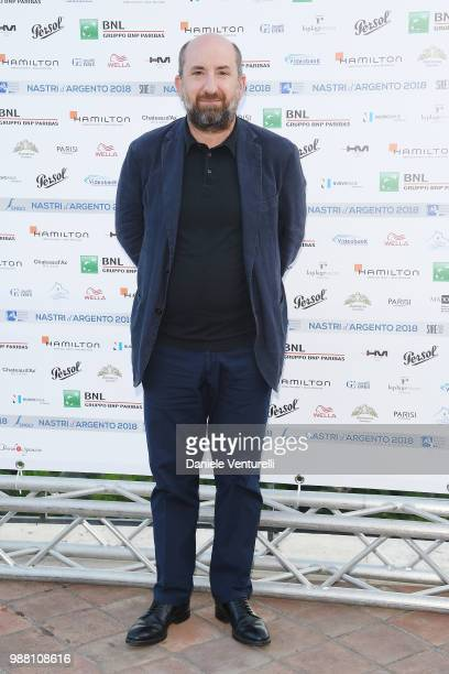 Antonio Albanese attends the Nastri D'Argento cocktail party on June 30, 2018 in Taormina, Italy.