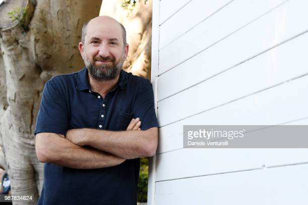 Antonio Albanese attends the Nastri D'Argento press conference on June 30, 2018 in Taormina, Italy.
