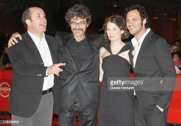 Antonio Albanese, Silvio Soldini, Alba Caterina Rohrwacher and Fabio Troiano attend the 'Giorni E Nuvole' premiere during Day 5 of the 2nd Rome Film...