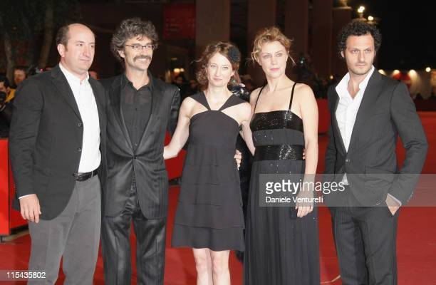 Antonio Albanese, Silvio Soldini ,Alba Caterina Rohrwacher, Margherita Buy and Fabio Troiano attend the 'Giorni E Nuvole' premiere during Day 5 of...