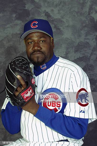 Antonio Alfonseca of the Chicago Cubs poses for a portrait during the Cubs' spring training Media Day on February 21 2003 at Fitch Park in Mesa...