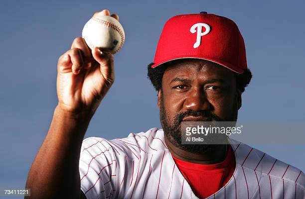 Antonio Alfonseca of the Philadelphia Phillies poses during Photo Day on February 24 2007 at Brighthouse Networks Field in Clearwater Florida