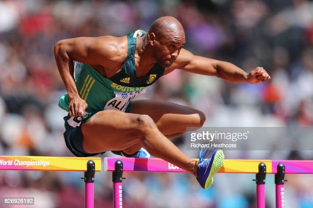 Antonio Alkana of South Africa competes in the Men's 110 metres hurdles during day three of the 16th IAAF World Athletics Championships London 2017...