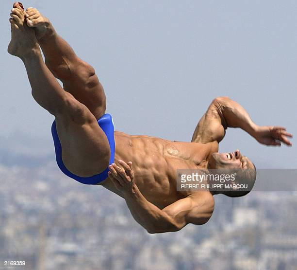 Antonio Ally from Great Britain performs during the 3 meters springboard preliminary during the 10th FINA World Championships in Barcelona 15 July...