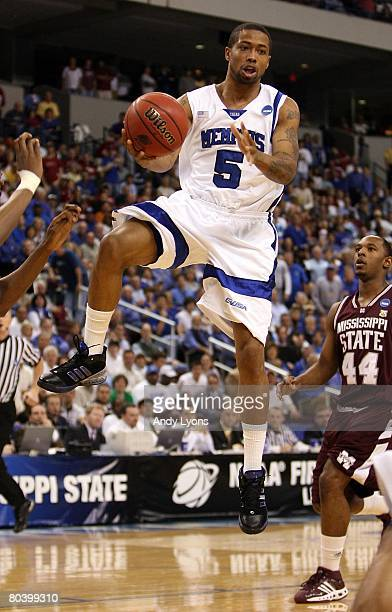 Antonio Anderson of the Memphis Tigers looks to pass the ball against the Mississippi State Bulldogs during the second round of the South Regional as...