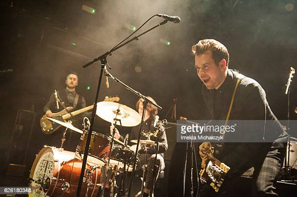 Antonio Angotti Jack Taylor and Alex Veale of Tax The Heat perform at KOKO on November 27 2016 in London England
