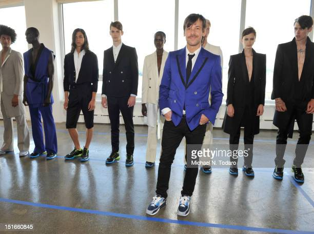 Antonio Azzuolo attends the Antonio Azzuolo presentation during Spring 2013 Mercedes-Benz Fashion Week at Milk Studios on September 9, 2012 in New...