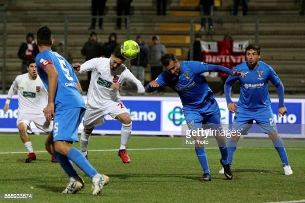 Antonio Bacio Terracino of Teramo Calcio 1913 score the goal of 21 during the Lega Pro 17/18 group B match between Teramo Calcio 1913 and Alma...