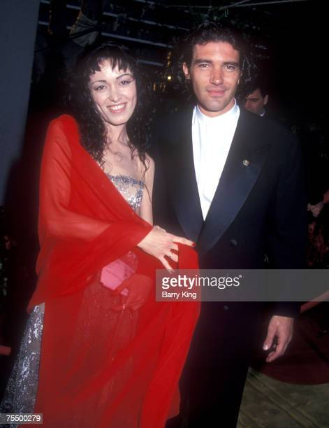 Antonio Banderas and Ana Leza at the Dorothy Chandler Pavillion in Los Angeles CA