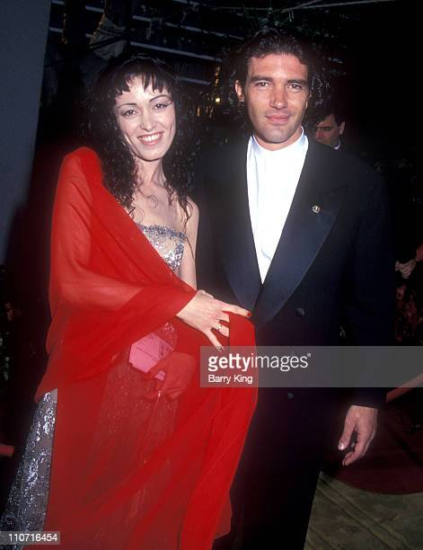 Antonio Banderas and Ana Leza during 66th Annual Academy Awards at Dorothy Chandler Pavillion in Los Angeles CA United States