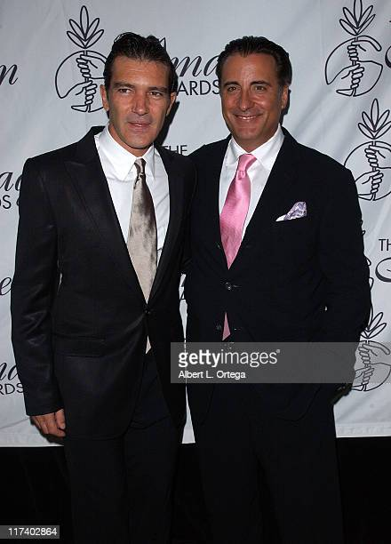 Antonio Banderas and Andy Garcia during 21st Annual IMAGEN Awards Arrivals at The Beverly Hilton in Beverly Hills California United States