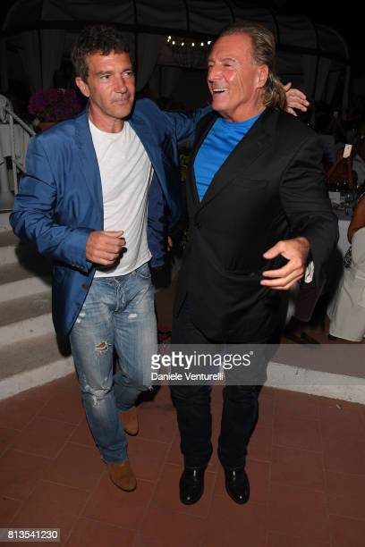 Antonio Banderas and Armand Assante attend 2017 Ischia Global Film Music Fest on July 12 2017 in Ischia Italy