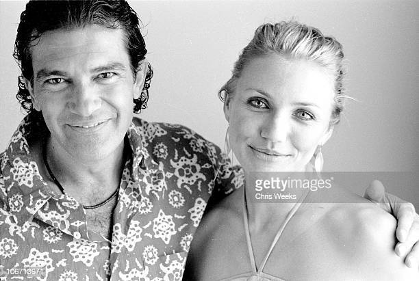 Antonio Banderas and Cameron Diaz during Portrait Session with Antonio Banderas and Cameron Diaz Black White Photography by Chris Weeks at Regent...