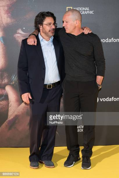 Antonio Banderas and Ken Biller attend the 'Genius Picasso' serie photocall at Westin Palace hotel in Madrid on March 21 2018