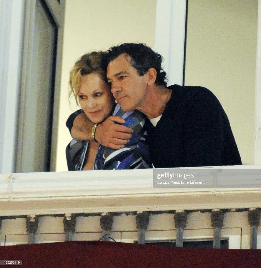 Antonio Banderas And Melanie Griffith Attend Holy Week Procession - March 26, 2013 : News Photo