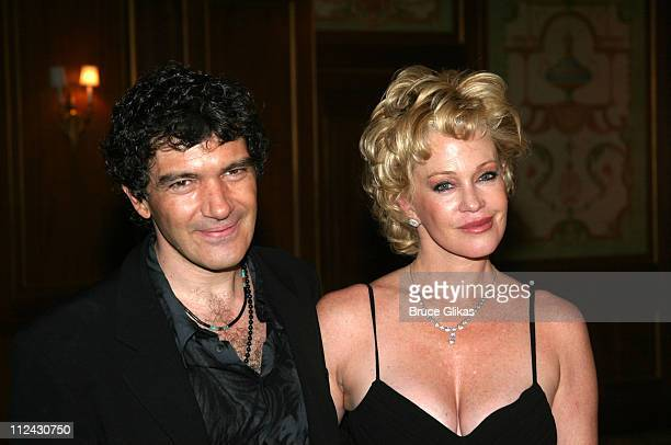 Antonio Banderas and Melanie Griffith during Antonio Banderas and Melanie Griffith honored by The Drama League at The Hotel Pierre in New York City,...