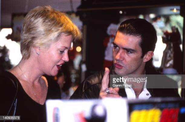 Antonio Banderas and Melanie Griffith shopping Marbella Spain
