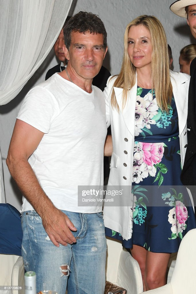 Antonio Banderas and Mira Sorvino attend 2017 Ischia Global Film & Music Fest on July 12, 2017 in Ischia, Italy.