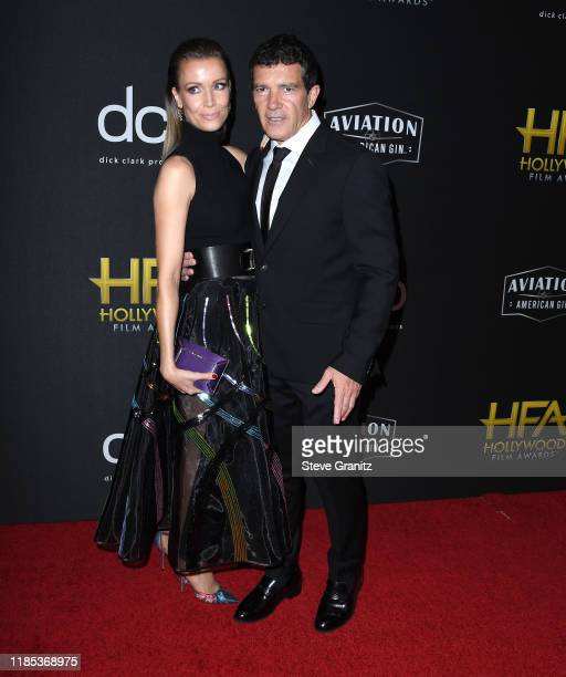 Antonio Banderas and Stella Banderas arrives at the 23rd Annual Hollywood Film Awards at The Beverly Hilton Hotel on November 03 2019 in Beverly...
